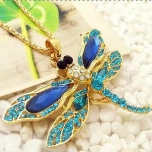 Betsey Johnson dragonfly NWT necklace